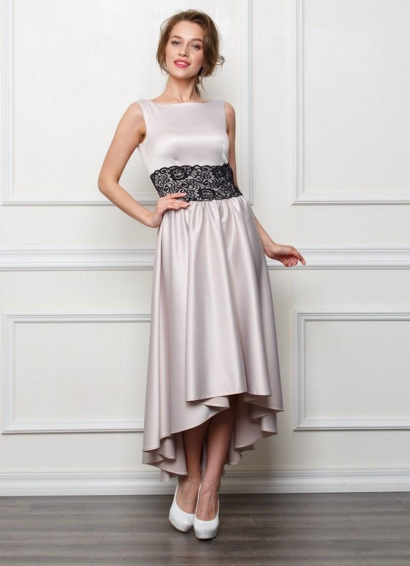 платье маллет шел длинное без рукава