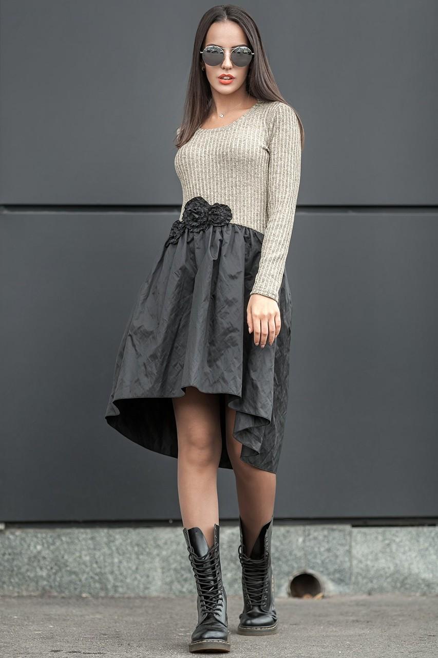 платье маллет черная юбка светлый верх