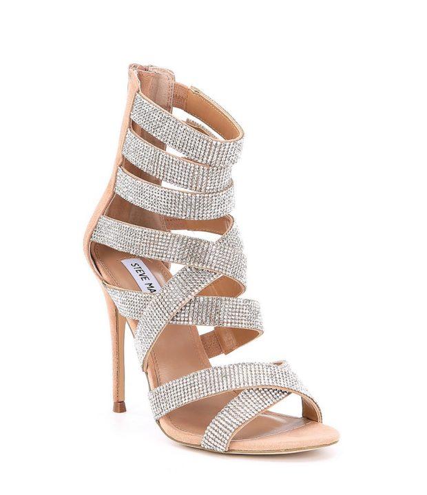 модная обувь на новый год: стразы высокий каблук