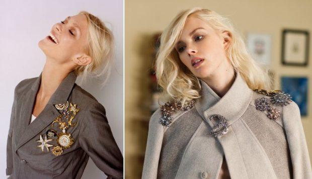 модная бижутерия 2018-2019: броши разной формы