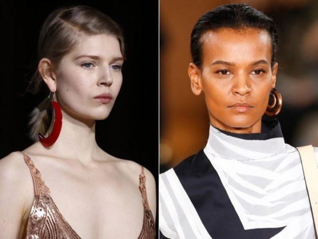 модная бижутерия 2019-2020: массивная сережка на одно ухо из пластмасса