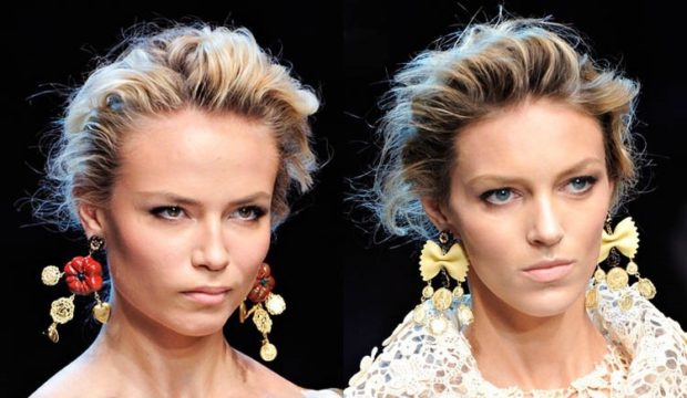 модная бижутерия 2018-2019: сережки висячие разной формы