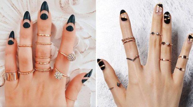 модная бижутерия 2018-2019 года: кольца на все фаланги пальца
