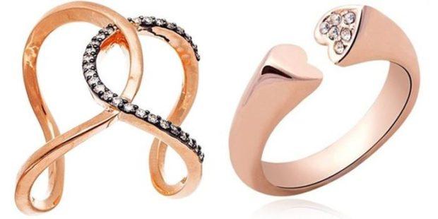 модная бижутерия 2018-2019 года: кольца разомкнутые