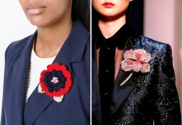 модная бижутерия 2019-2020: брошки в виде цветков большие