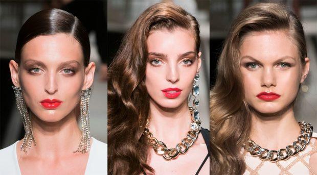 модная бижутерия 2018-2019: сережки висячие цепи на шею массивные цепи