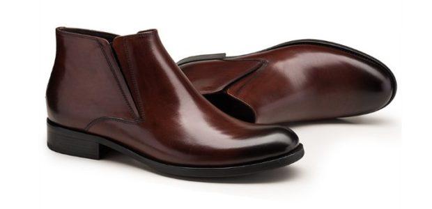 ботинки коричневые классика