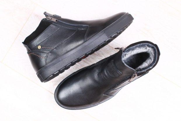 ботинки черные зимние на толстой подошве