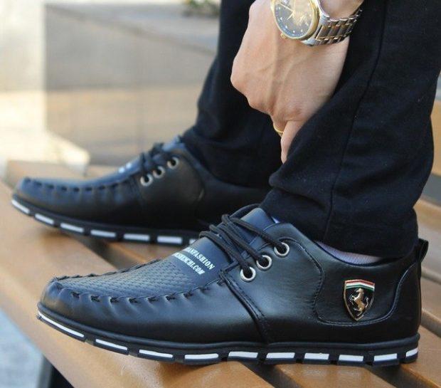 мужская обувь 2020-2021: туфли спортивные черные
