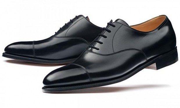 туфли с лакированным носком классика
