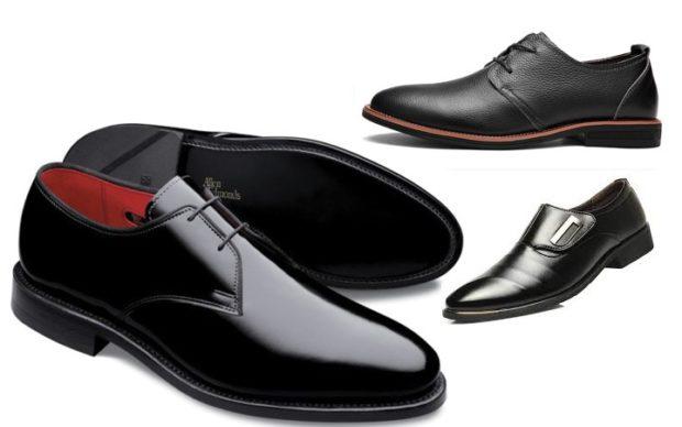 лаковые туфли черные на шнурках