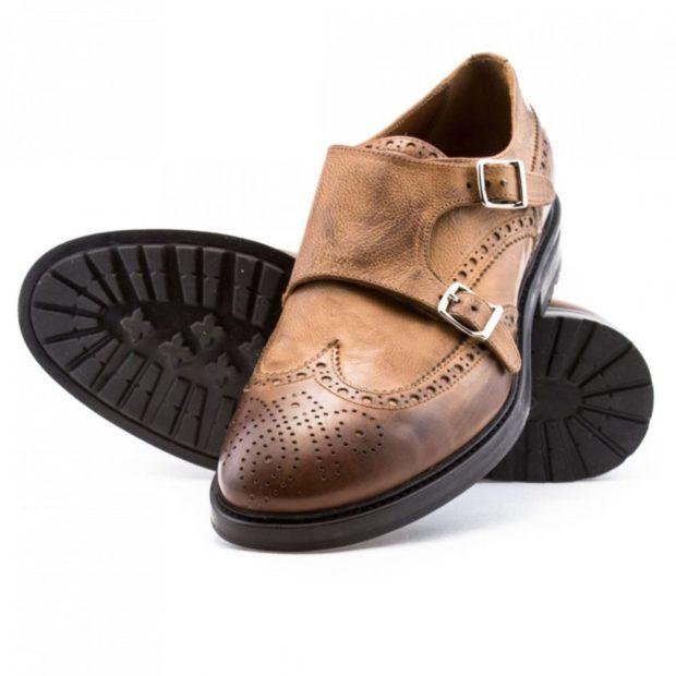 туфли монки коричневые