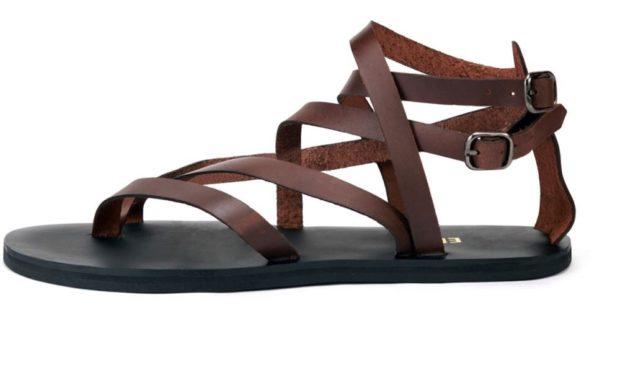 коричневые сандалии плетеные