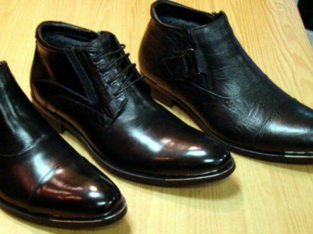мужская обувь 2020-2021: ботинки черные кожаные