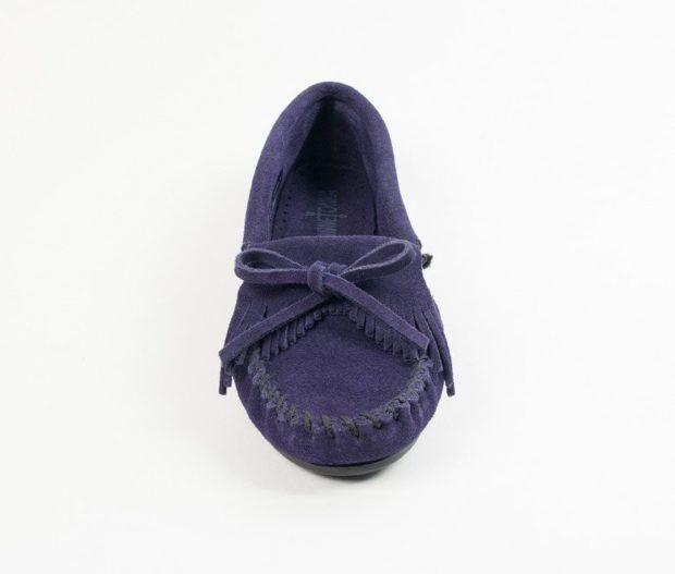 фиолетовые мокасины с бахромой