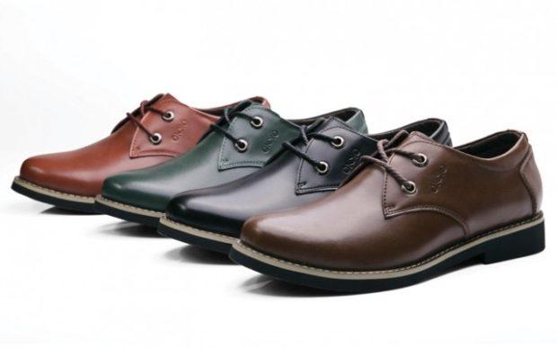 мужская обувь 2020-2021: туфли кожаные коричневые черные зеленые красные