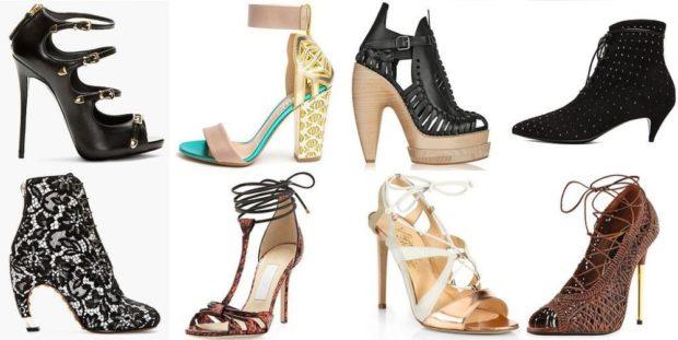 босоножки на Новый Год на каблуках