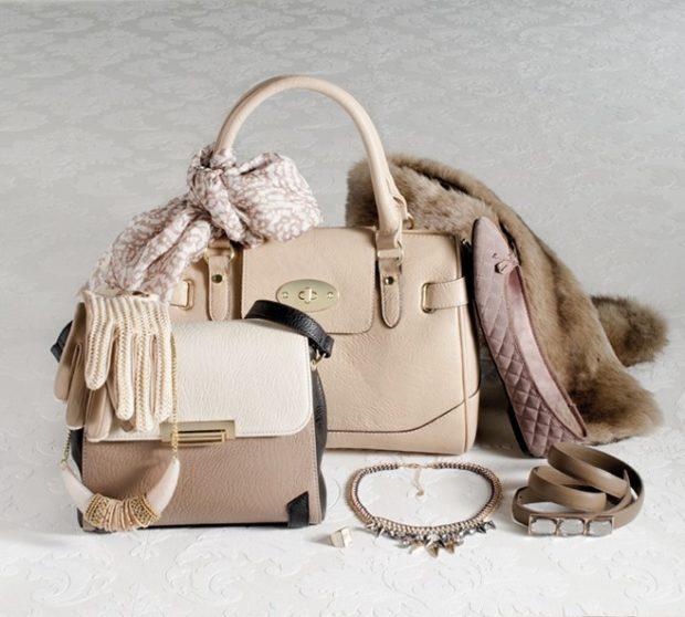 модные женские аксессуары: сумки браслеты перчатки колье