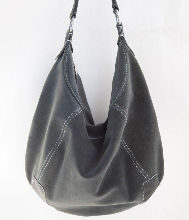 сумка-мешок серая
