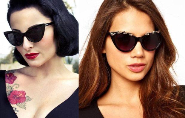 очки от солнца черные коричневые лиса