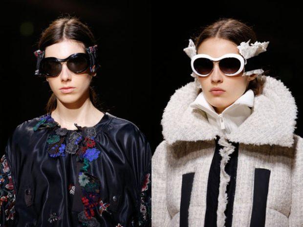 очки от солнца черные черные с белой оправой