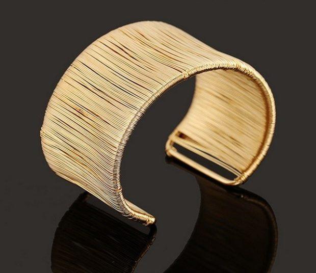 женские браслеты: золотой каффа на ногу