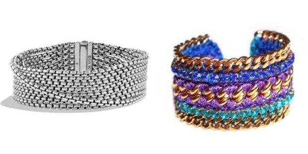 женские браслеты: многослойный серебро цепь цветной цепь
