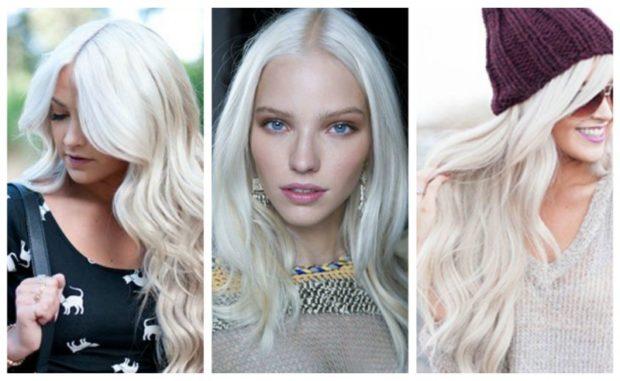 насыщенный белый блонд