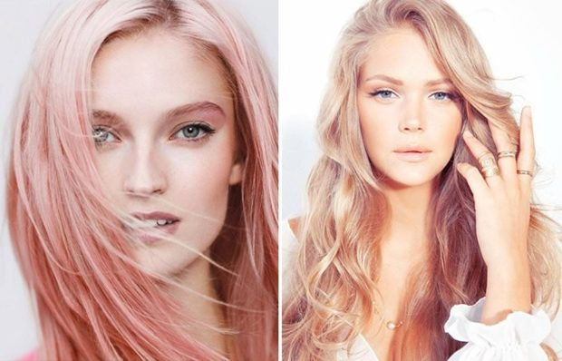 розовый блонд омбре