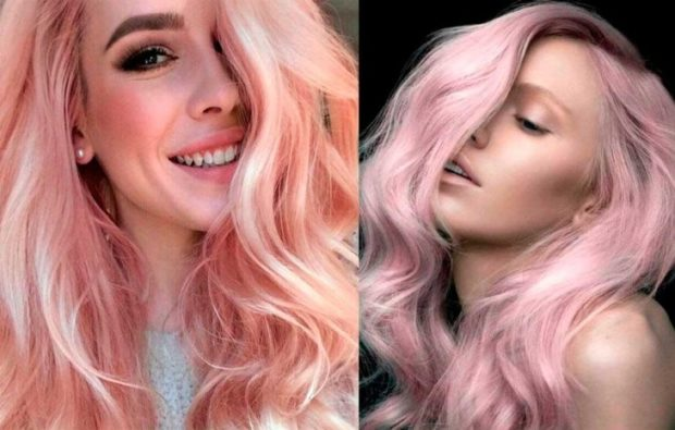 розовый блонд насыщенный