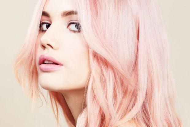 розовый блонд с персиковым отливом