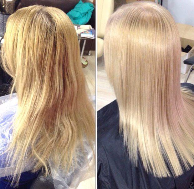 тонирования для блондинок от желтого к натуральному с розовым