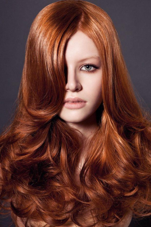 модный цвет женских волос: натуральный рыжий