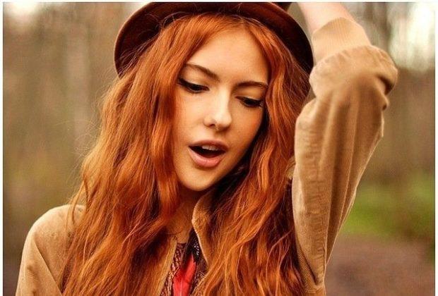 модный цвет женских волос: рыжий натуральный
