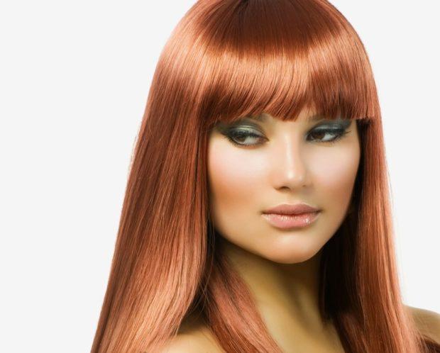 модный цвет волос для женщин: рыжий золотой