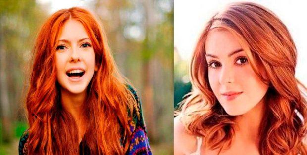 модный цвет волос: натуральный рыжий с оттенком имбиря