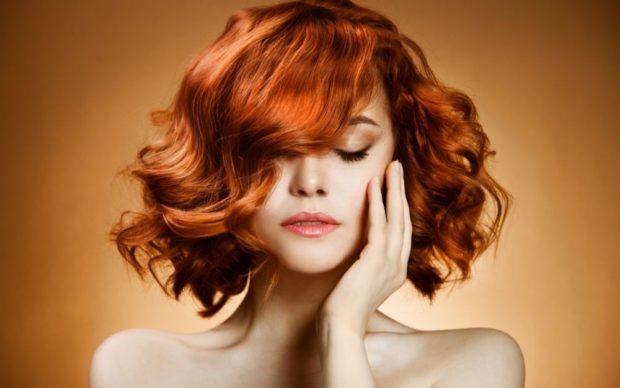 модный цвет волос для женщин: золотой рыжий