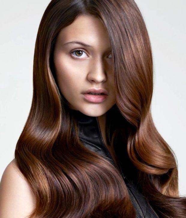 модные цвета волос: шоколадный