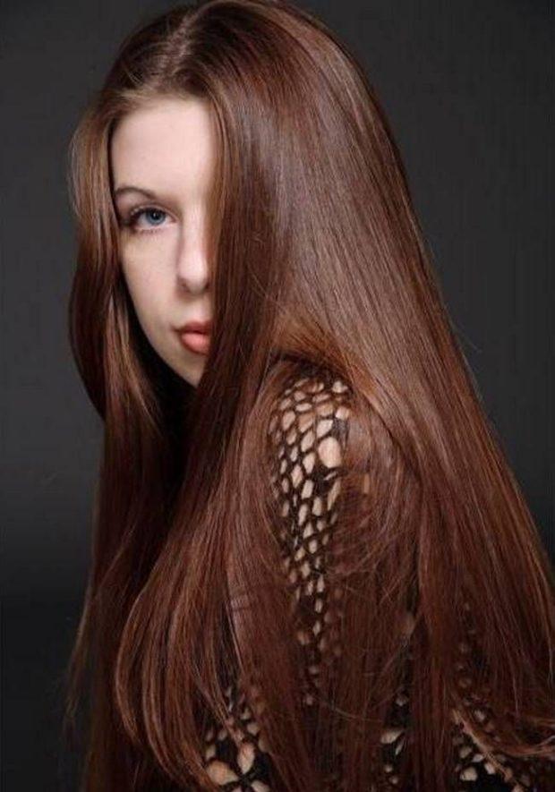 модные цвета волос: натуральный каштан