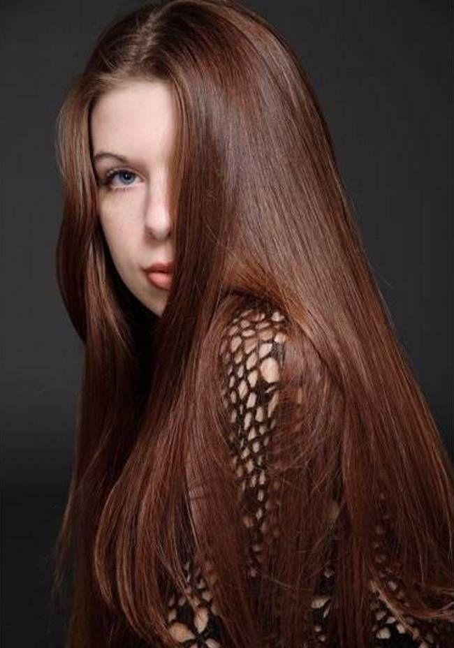 волосы натуральный каштан