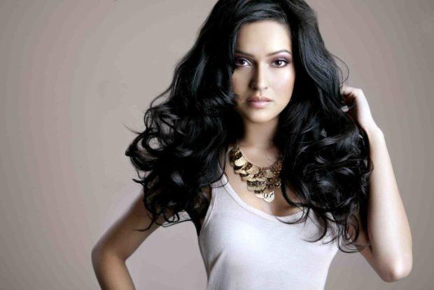 модные цвета волос: черные