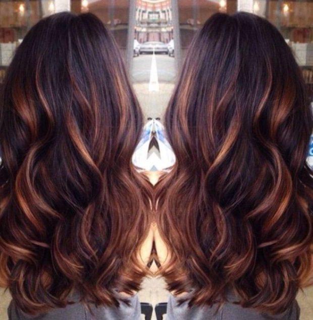 модные цвета волос: 3D окрашивание темные