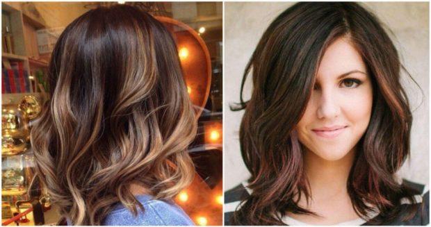 модные цвета волос: 3D окрашивание темный