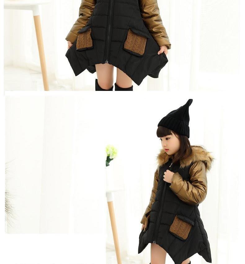 черная куртка асимметрия с капюшоном и мехом