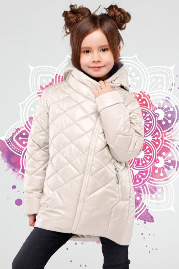 стеганая куртка белая детская осень зима 2019-2020