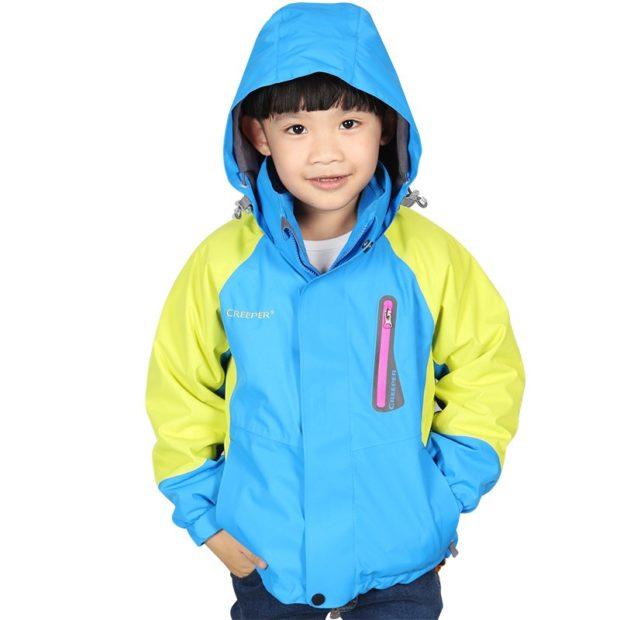 осенняя куртка спортивная синяя с желтым
