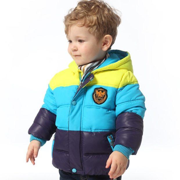 детские зимние куртки: пуховик стеганый цветной осень зима 2019-2020