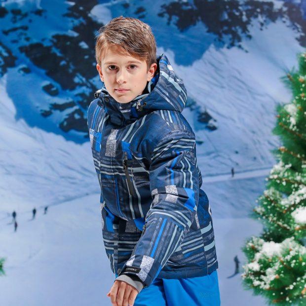 куртка синяя с голубыми полосками