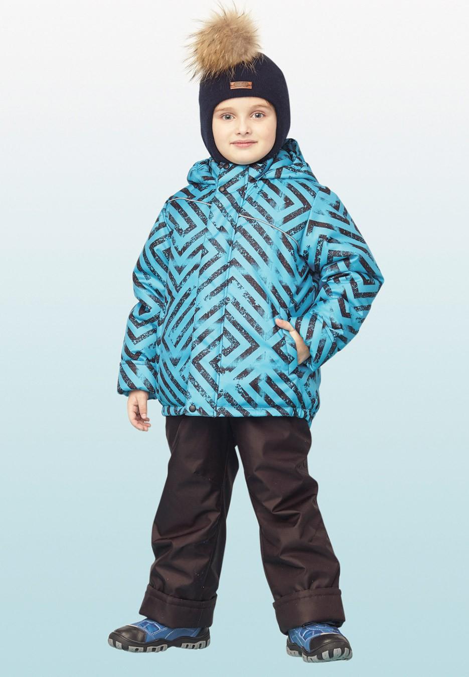 куртка ветрозащитная синяя с рисунком