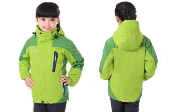 куртка спортивная для девочки зеленая с салатовым